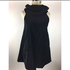 Theory black Cowl neck Tunic Top Sleeveless
